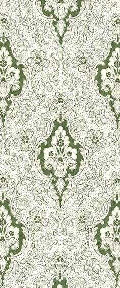 Green damask Christmas crafting paper from Italy