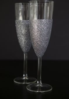 Glittered Wine Glasses by Jen Carreiro | Project | Home Decor / Coasters & Tableware | Weddings | Kollabora