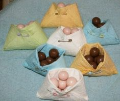 @Katelynn Minter - another idea for the baby shower for Jennifer - napkins folded into diapers to hold candy, nuts, etc