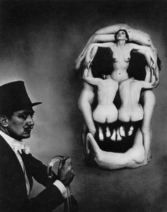 Salvador Dalí - photographer Philippe Halsman collaboration / Voluptas Mors / 1951.