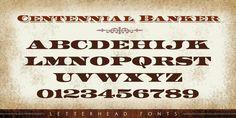 LHF Centennial Banker™ - Webfont & Desktop font « MyFonts