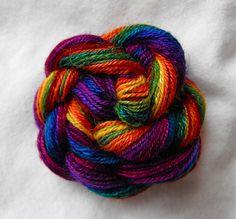 rainbow Zebisis yarn spun by StashEnhancement