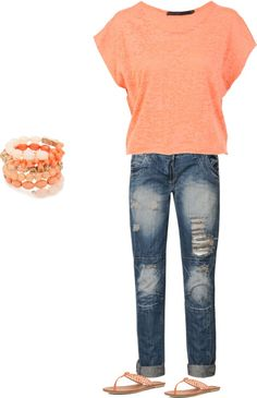 Casual, created by kerby-clark on Polyvore...  I THINK I WOULD ACTUALLY WEAR THIS.
