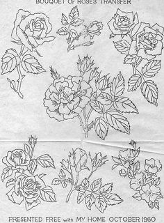 Bouquet of roses transfer   Claire Hicks   Flickr