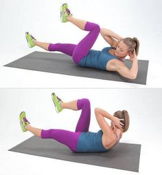 Switch up your usual core routine and try this Bicycle Abs move to target your lower abs.Switch up your usual core routine and try this Bicycle Abs move to target your lower abs. Tabata Workouts, Lower Ab Workouts, Easy Workouts, Ab Exercises, Weight Exercises, Ab Moves, Stomach Workouts, Fitness Exercises, Flat Belly Workout