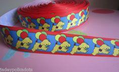 Spot The Dog Balloons Print Grosgrain Ribbon 1 25mm Wide Price per Metre | eBay
