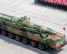 North Korea has started moving what is believed to be a new long-range ballistic missile potentially capable of hitting the U.S. mainland to its eastern coast, apparently in preparation for a launch.   In this photo distributed by the Korean Central News Agency, a military vehicle carries a missile believed to be the KN-08 during a military parade in Pyongyang on April 15, 2012, to mark the centenary of the birth of Kim Il Sung. (Provided by Korea News Service)