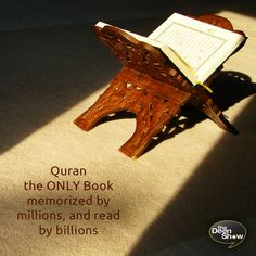 The Quran is the ONLY book in the world today that was revealed over a span of 23 years, that is memorized by millions, and read by billions. The Quran is the only book in the world that makes this profound claim to be from the Creator and challenges you to find one contradiction in it.