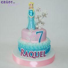Frozen Princesa - Grãos de Açúcar - Bolos decorados - Cake Design
