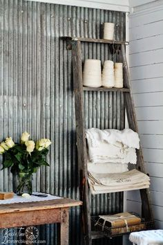 Guest House in an old farmhouse shed via Knick of Time @ knickoftimeinteriors.blogspot.com