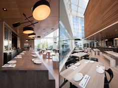 Momofuku restaurant by James K.M. Cheng & The Design Agency, Toronto hotels and restaurants