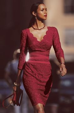 Cranberry Sheath Dress