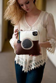 Flannel Instagram Inspired Pillow.