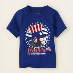 baby boy - outfits - americana - Americana monkey graphic tee | Childrens Clothing | Kids Clothes | The Childrens Place