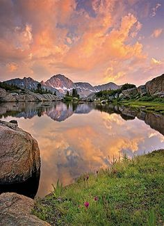 Alpenglow Wall Mural Comes with 4 panels and Measures to 6' x 8' 4""
