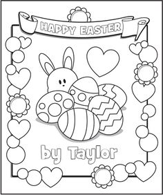 personalized easter coloring page frecklebox frecklebox