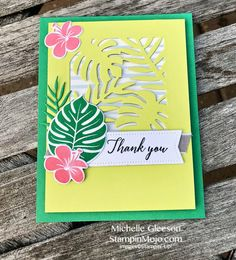 Stampin Up Tropical Chic Bundle Thank You Card Idea Michelle Gleeson Stampinup SU