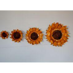 Rustic Arrow 4 Piece Sunflower Wall Décor Set   Wayfair