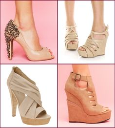 Nude shoes. I feel like every girl should have a pair. Wouldn't really wear the first one though.