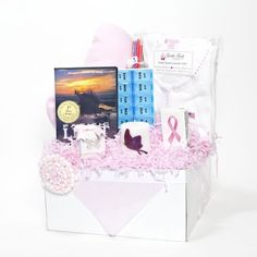 This  Post-surgical Breast Cancer Gift Basket helps women in their healing time...Using my own experience, I have personally handpicked items that provide comfort and care when women need it the most. http://recoverwithangels.com $164.99 cancer gifts