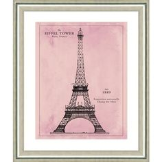 Vintage Print Gallery Eiffel Tower Pink Patent Print 22 x26 By (1.340 HRK) ❤ liked on Polyvore featuring home, home decor, wall art, art, backgrounds, filler, posters, vintage print gallery, pink home decor and eiffel tower home decor