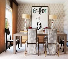 Dining Room - A seriously fun dining experience....elegant decor, mega patterns with whimsy and funk.  A personal statement with a great sense of humour.  (re-pinned photo only from Leticia Martínez)