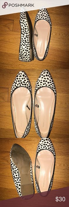 Banana Republic Leopard Print Ballet Flat Excellent condition Cream Abe black ballet flat Size 6 Banana Republic Shoes Flats & Loafers