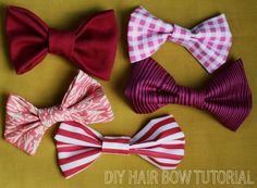 This is my favorite craft to make from www.ABeautifulMess.com They are so cute and easy to make! I've made a bunch into hair clips, and they are so great to have for days when you don't really feel like doing your hair!