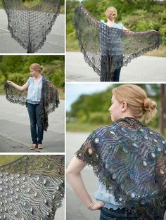 OMFG #lace #knitting #peacock
