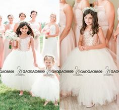 Absolutely Gorgeous Blush Rose Gold Sequins Wedding Party Flower Girls' Dresses 2016 Cap Sleeve Puffy Ball Gown Little Girl Formal Dress