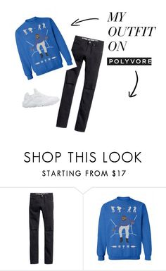 """""""hotline"""" by king87buddy on Polyvore featuring H&M, NIKE, women's clothing, women's fashion, women, female, woman, misses and juniors"""