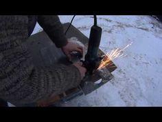 59. Как вырезать круглое отверстие в металле болгаркой. Циркульное приспособление - YouTube