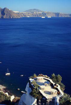 Caldera terrace in Oia, Santorini