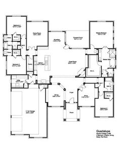 house plan... turn game room and fourth bedroom unto an in law suite.... this is perfect