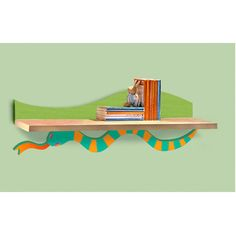 Room Magic Little Lizard Wall Bookshelf