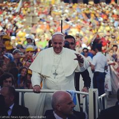 #Pope Francis waves to crowds gathered for the June 7th celebration of #sports at the #Vatican. He encouraged #athletes to play for the #Church.