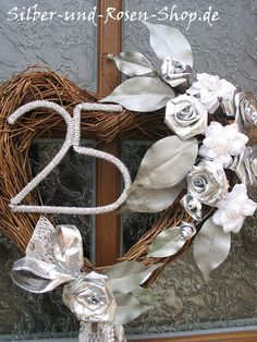 25 years of marriage calls for the best silver wedding decorations! Look through our 30 silver wedding ideas to find decor that is best for your ceremony! Silver Anniversary Gifts, Marriage Anniversary, Anniversary Decorations, 25th Wedding Anniversary, Anniversary Parties, Anniversary Ideas, Silver Wedding Decorations, Birthday Rewards, Wedding Doors