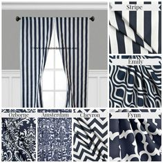 Superior Navy Blue Curtain Panels Modern Geometric By Exclusiveelements, $25.00.  Blue Kitchen CurtainsNavy ...