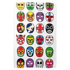 Shop Lucha Libre Luchador Mexican Wrestling Masks Cloth Napkin created by kirk_dougall. Personalize it with photos & text or purchase as is! Atelier Theme, Christen, Mask For Kids, Hand Towels, Paper Texture, Art Projects, Birthday Parties, Birthday Ideas, Happy Birthday