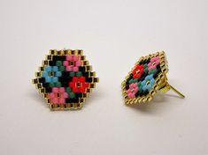 Beaded Earrings Patterns, Beading Patterns, Beaded Jewelry, Handmade Jewelry, Beaded Bracelets, Mosaic Patterns, Painting Patterns, Bracelet Patterns, Bead Earrings