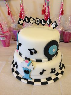 A 50's theme cake made by my friend @Anica Bandy Westfall