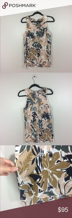 """Rag & Bone Victoria Tropical Print Silk Blouse Has a makeup spot on the inside of the collar but has no stains on the outside. No pilling or holes. Split Hem style. 100% silk. 26.5"""" length front: 29"""" length back: 18"""" pit to pit: no trades. rag & bone Tops Blouses"""