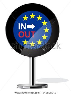 Brexit British referendum concepts symbol on sign