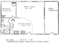 ... Floor Plans | One Bedroom Model 24' x 32' ( view floor plan ) More
