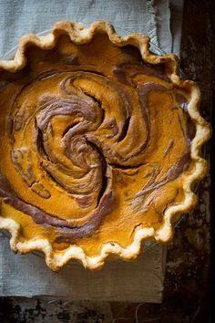 Chocolate Swirl Pumpkin Pie Recipe for Thanksgiving