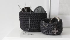 DIY crochet basket tutorial