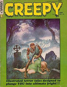 CREEPY Magazine #13 , Comic Book , 1966, Gray Morrow Cover Art, Horror