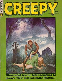CREEPY Magazine #13 , Comic Book , 1966, Gray Morrow Cover Art, Horror