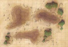 Desert Maps: Grid Quicksand by Caeora