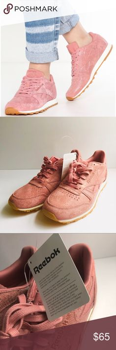646719515005a Reebok Classic Pink Suede Sneakers 7.5 NWT A fun and fabulous take on the  classic.